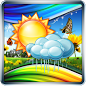 Giao diện ứng dụng thời tiết đẹp Weather Screen Android